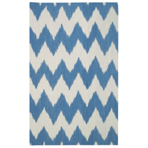 Grecian blue dhurrie rug from the Kellogg Collection | @kelloggfurn