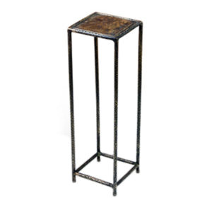 Square hammered metal drink table from the Kellogg Collection | @kelloggfurn