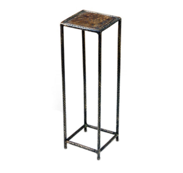 Square hammered metal drink table from the Kellogg Collection   @kelloggfurn