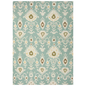Cool Aqua dhurrie rug from the Kellogg Collection | @kelloggfurn