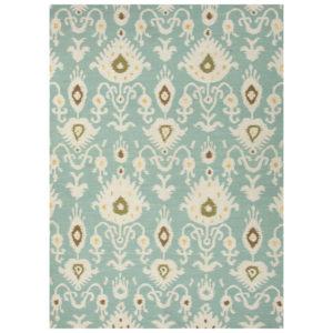 Cool Aqua dhurrie rug from the Kellogg Collection | @kelloggfurn