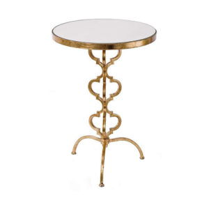 Aged gold cigar occasional table from the Kellogg Collection | @kelloggfurn