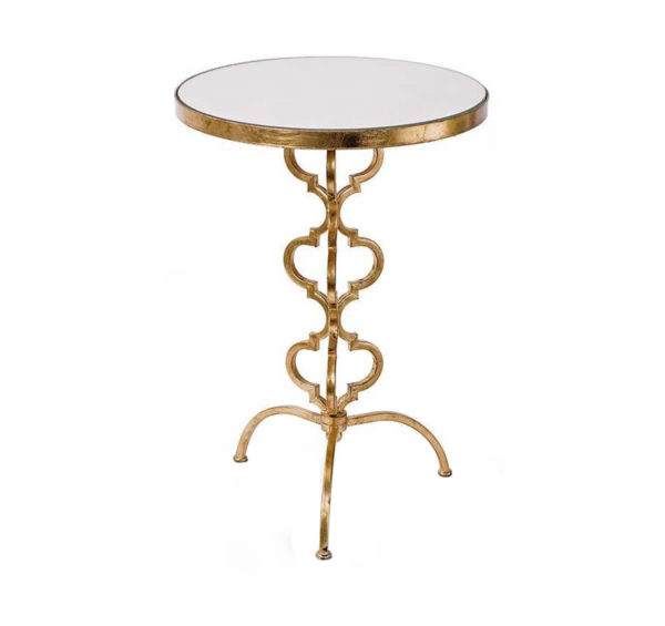 Aged gold cigar occasional table from the Kellogg Collection   @kelloggfurn
