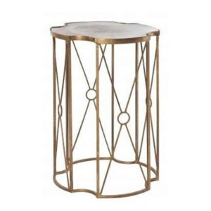 Aged gold metal occasional table from the Kellogg Collection | @kelloggfurn