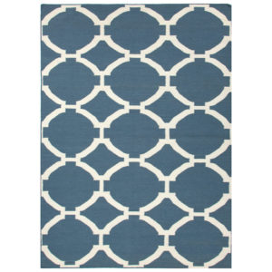 Dark Denim dhurrie rug from the Kellogg Collection | @kelloggfurn