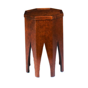 Cherry gothic tambour occasional table from the Kellogg Collection | @kelloggfurn