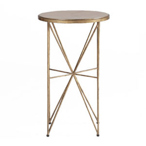 Nina faux horn occasional table from the Kellogg Collection | @kelloggfurn