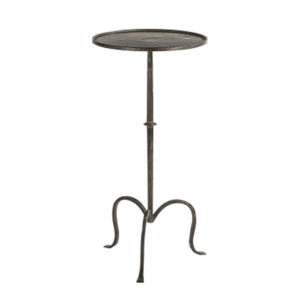 Round metal martini occasional table from the Kellogg Collection | @kelloggfurn