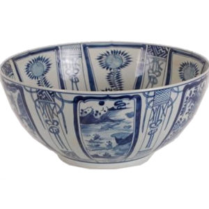 Blue and White Asian Bowl from the Kellogg Collection | @kelloggfurn