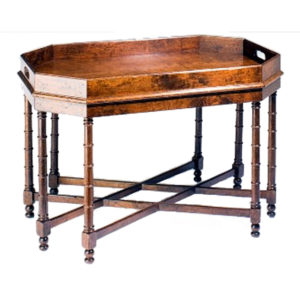 Cherry bamboo tray table from the Kellogg Collection | @kelloggfurn