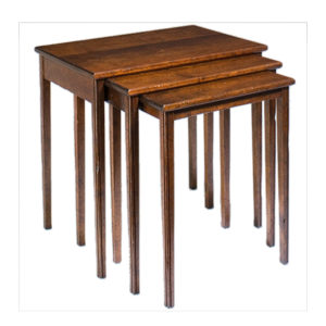 Set of three cherry nesting tables from the Kellogg Collection | @kelloggfurn