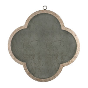 Clove shaped hand antiqued mirror from the Kellogg Collection | @kelloggfurn