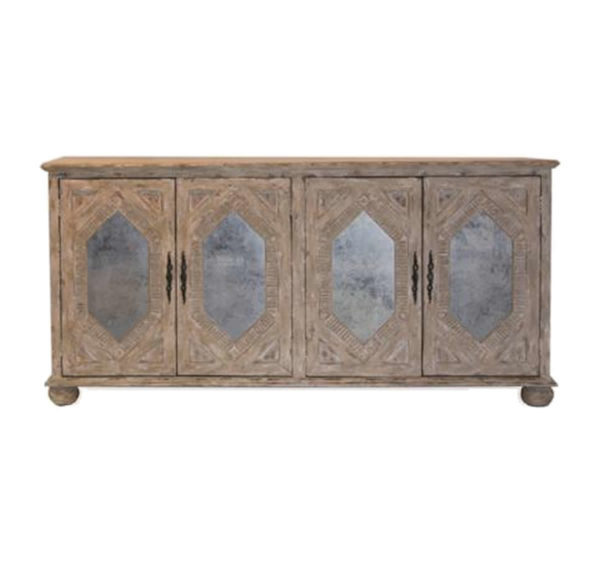 Diamond inset sideboard from the Kellogg Collection | @kelloggfurn