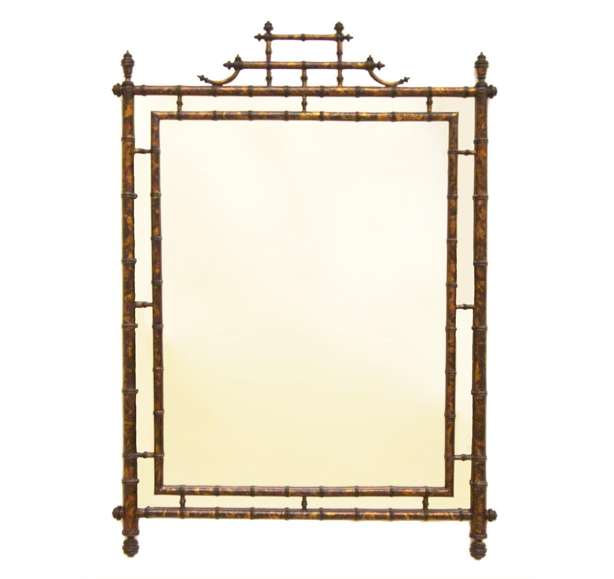 Tortoise Bamboo Mirror The Kellogg Collection
