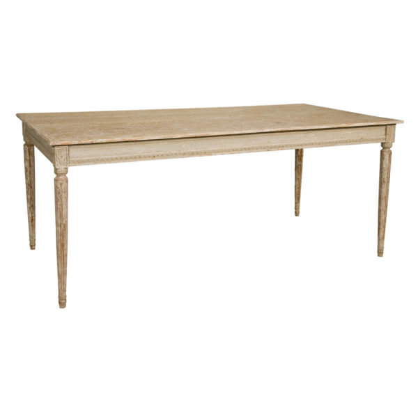 Gustavian dining table from the Kellogg Collection | @kelloggfurn