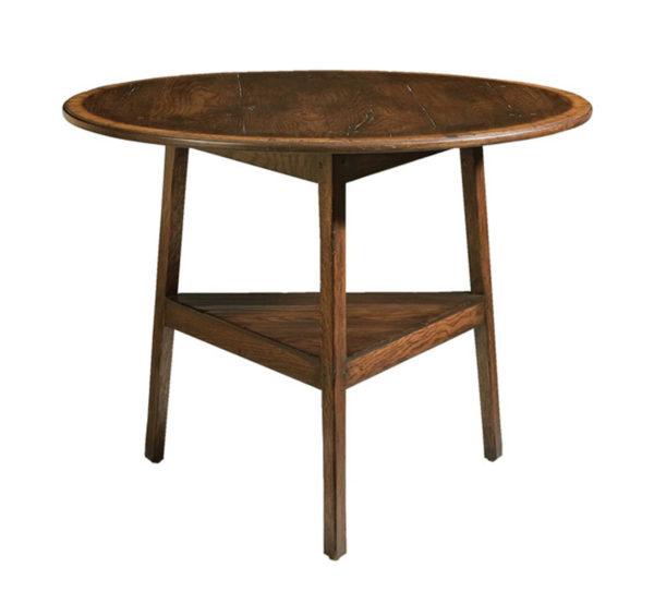 Oak cricket end table from the Kellogg Collection | @kelloggfurn