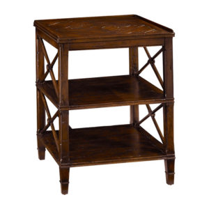 Three tier nightstand from the Kellogg Collection | @kelloggfurn