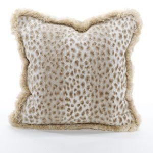 Leopard pillow in ecru from @kelloggfurn