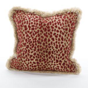Leopard pillow in rust from @kelloggfurn