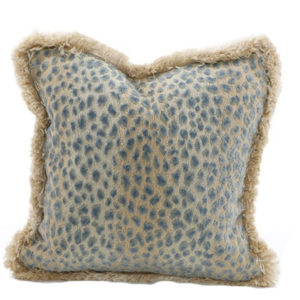 Aqua leopard pillow from the Kellogg Collection | @kelloggfurn