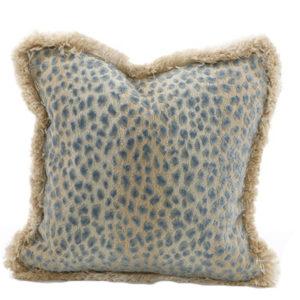 Aqua leopard pillow from the Kellogg Collection | @kelloggfurn