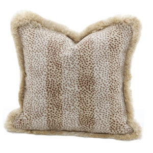Mini leopard leaf pillow from the Kellogg Collection | @kelloggfurn