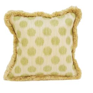 Dots pillow in lime | @kelloggfurn