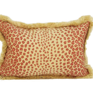 Leopard pillow in red from @kelloggfurn