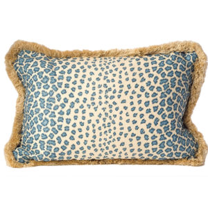 Blue leopard pillow from the Kellogg Collection | @kelloggfurn