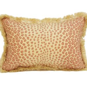 Leopard pillow in terracotta from @kelloggfurn