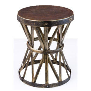 Hammered metal garden seat from the Kellogg Collection | @kelloggfurn