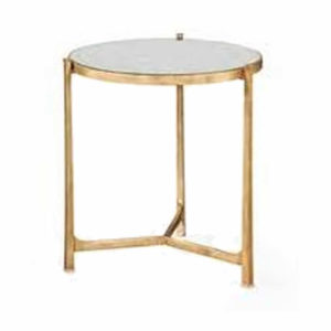 Round eglomise end table from the Kellogg Collection | @kelloggfurn