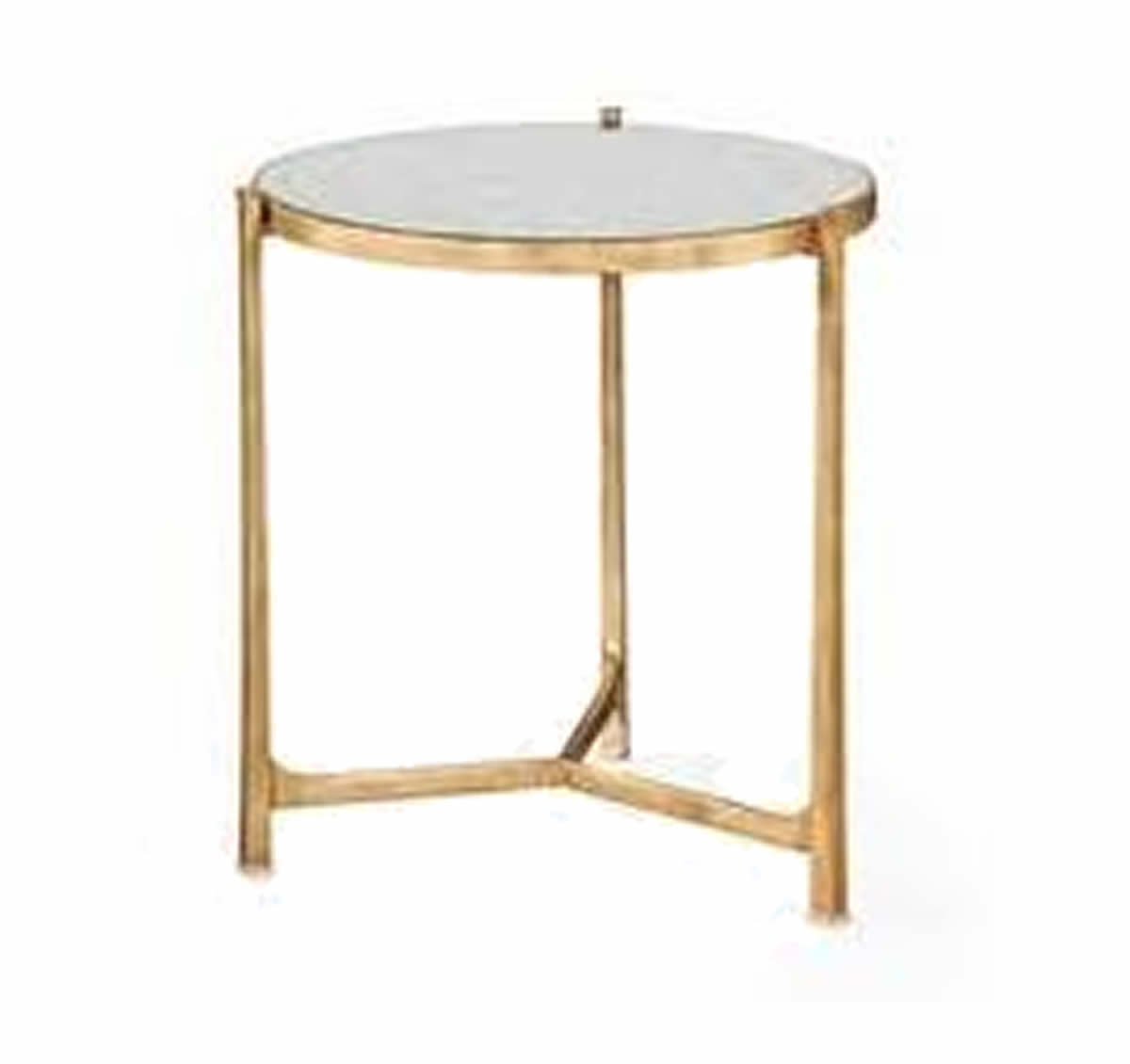 Gold Eglomise End Table The Kellogg Collection