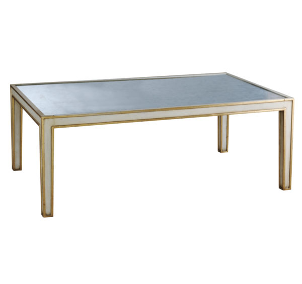 Cream mirrored cocktail table from the Kellogg Collection | @kelloggfurn