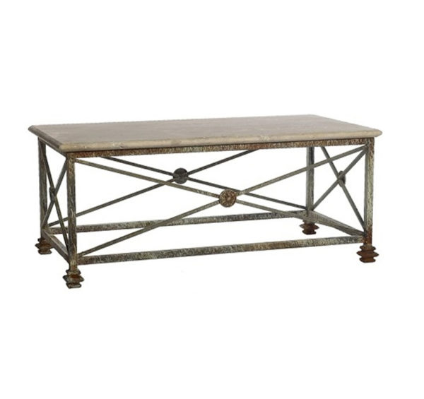Stone medallion cocktail table from the Kellogg Collection | @kelloggfurn