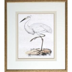 Heron art at the Kellogg Collection