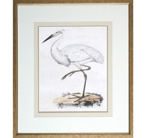 Heron art at the Kellogg Collection