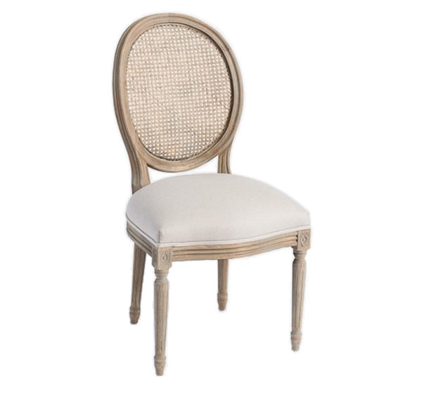 French cane side chair from the Kellogg Collection | @kelloggfurn