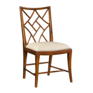 Fretwork side chair from @kelloggfurn