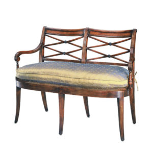 Classic cane bench from the Kellogg Collection | @kelloggfurn