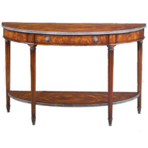 Mahogany demilune console from the Kellogg Collection | @kelloggfurn