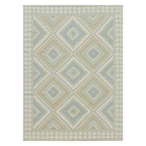Tangier Diamond blue green rug | @kelloggfurn