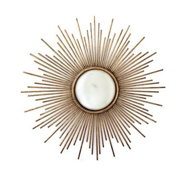 Wire starburst mirror from the Kellogg Collection | @kelloggfurn