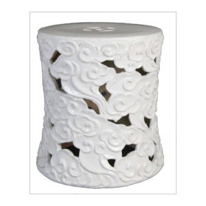 White cloud motif garden seat from the Kellogg Collection | @kelloggfurn
