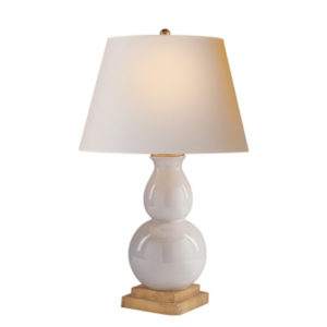 Small ivory double guord table lamp by the Kellogg Collection | @kelloggfurn