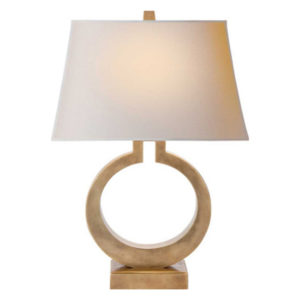 Brass ring table lamp by the Kellogg Collection | @kelloggfurn