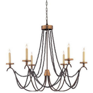 Marigot six-light chandelier from the Kellogg Collection | @kelloggfurn