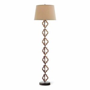Gilt finish on metal openwork floor lamp from the Kellogg Collection | @kelloggfurn