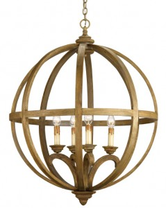 The Axel orb chandelier in chestnut