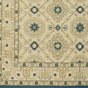 Detail: Blue and Ivory Soumak